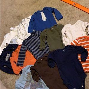 12 long sleeve shirts/onesies